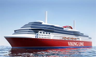 Viking Line's new cruise ferry, ready for delivery in 2020 from Chinese shipyard Xiamen Shipbuilding