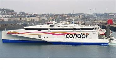 CONDOR LIBERATION arriving in St.Peter Port, Guernsey. © Tony Rive