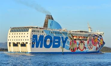 MOBY AKI is one of the ro-paxes that also serves Olbia from Piombino © Marc Ottini