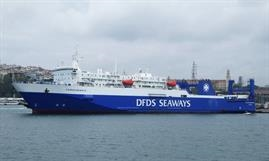 In October last year KAUNAS SEAWAYS was still displaying the old DFDS Seaways livery © Selim San
