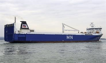 MN PELICAN will serve Brittany Ferries for at least another two years © Maritime Photographic
