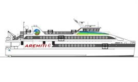 Rendering of the just delivered AREMITI 6 © Austal