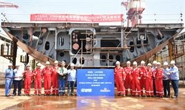 Keel laying of the second E-Flexer at AVIC Weihai © Stena Line
