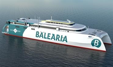 Rather than placing an order with Austal or Incat, Baleària opted to build in Spain © Baleària
