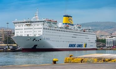 EL. VENIZELOS seen fresh from repairs and overhaul in Piraeus on 13 May © George Giannakis