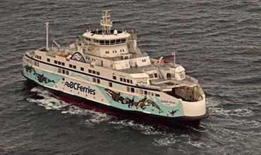 SALISH ORCA: the lead ship in the Remontowa-designed and -built Salish Class © BC Ferries