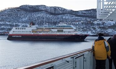 TROLLFJORD is one of four Hurtigruten ships to switch permanently to expedition cruising © Søren Lund Hviid