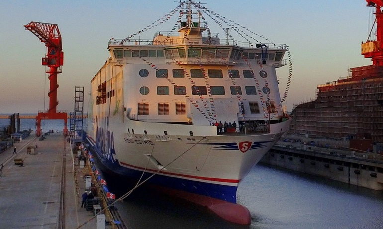 STENA ESTRID will be floated out later during 1Q 2019 © AVIC Ship