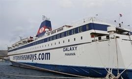 GALAXY being prepared to leave the Med for a charter to SSL - © European Seaways Inc.