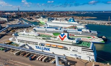 Part of the Tallink fleet seen laid up in Tallinn on 19 March. © Kaupo Kalda