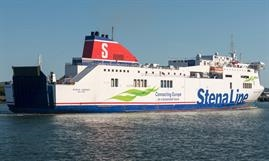 STENA MERSEY will become STENA BALTICA following her lengthening and complex drive-through conversion. © Frank Lose