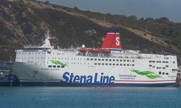 Fishguard-Rosslare mainstay STENA EUROPE berthed in Fishguard © Frank Lose