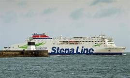 The brand-new STENA ESTRID will make her first commercial sailing on the Central Corridor route on 13 January. © Stena Line