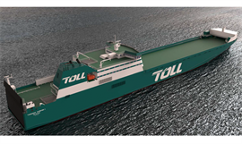 Artist's impression of TASMANIAN ACHIEVER II that is nearing completion at Jingling © Toll Group