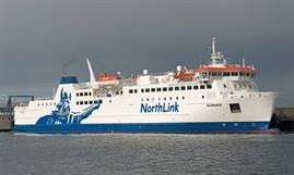HAMNAVOE operates between Scrabster and Sromness, competing with Pentland Ferries' PENTALINA, soon to be replaced by the new ALFRED © Frank Lose