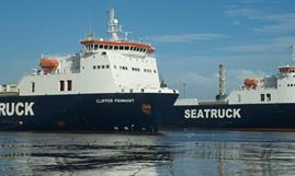 CLIPPER PENNANT will return to her 'country of birth' for a charter to newly-formed Canary Bridge Seaways © Seatruck