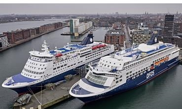 PEARL SEAWAYS and CROWN SEAWAYS will make an intermediate call in Frederikshavn on their way to and from Oslo. © DFDS