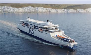 The world's largest double-enders are expected to be delivered in 2023. © P&O Ferries