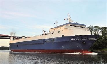 MAESTRO UNIVERSE will make one weekly roundtrip from Klaipeda to Kiel and Karlshamn respectively © Frank Behling
