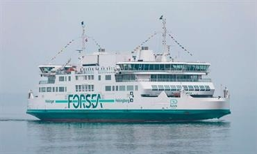 The green AURORA AF HELSINBORG showing off the new ForSea brand name © ForSea