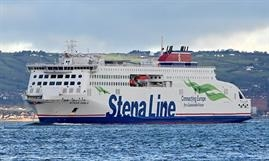 STENA EMBLA has now been introduced on the domestic Birkenhead-Belfast route which has seen a surge in freight volumes in recent days. © Stena Line