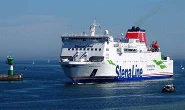 STENA NORDICA returns to the Karlskrona-Gdynia route replacing the much smaller GUTE © Sebastian Ziehl