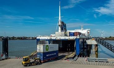 P&O Ferries' chartered NORSTREAM officially inaugurated the two-berth Tilbury2 river terminal. © Forth Ports