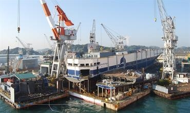 The Shimonoseki Shipyard will remain a prolific builder of ro-pax ferries and ro-ro ships. © MHI