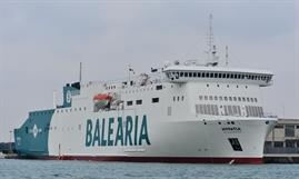 HYPATIA DE ALEJANDRIA is one of five Baleària ships to take part in the Green and Connected Ports project t© Marc Ottini