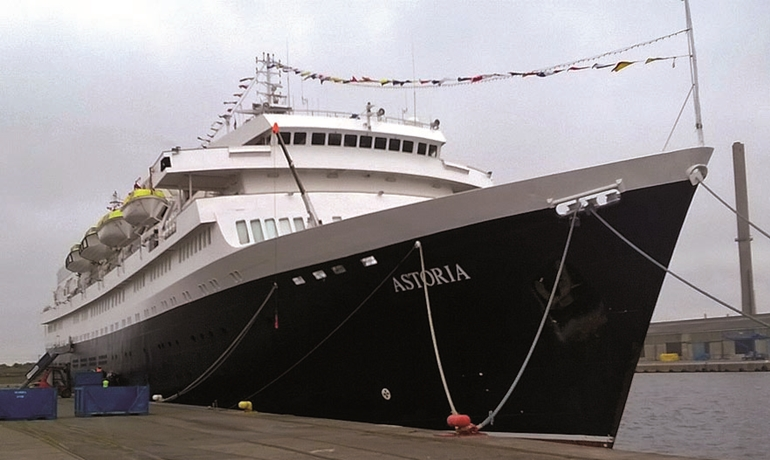 CMV's ASTORIA – first ship to use Visby's new cruise