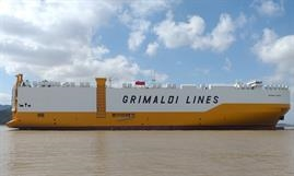 GRANDE FLORIDA is the fifth vessel in a seven-ship series Yangfan is building for the Grimaldi Group. © Grimaldi Group