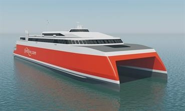 The newbuilding will replace FJORD CAT on the fastest crossing beteen Norway and Denmark © Fjord Line