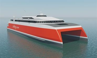 The 109-metre high-speed catamaran for Fjord Line is being built at the Cebu facility © Fjord Line