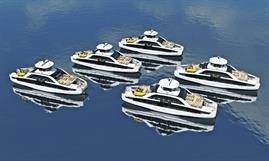 Boreal's five passenger-only double-enders for the Ruter service in the inner Oslofjord. © Boreal