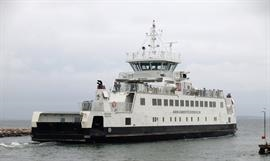 The 2013, Bangladesh-built ISEFJORD is one of two ferries servicing for Hundested–Rørvig Færgefart A/S © Peter Therkildsen