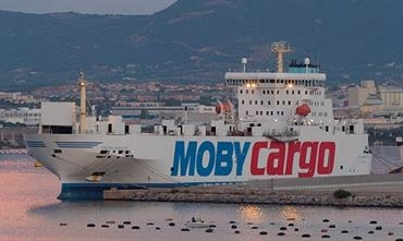Moby's freight carryings soared by 9% in 2017 © Shippax archive