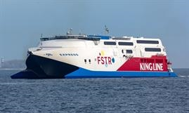 VIKING FSTR added extra capacity in 2017 for Viking Line. Now named GOLDEN EXPRESS and owned by Golden Fast Ferries, a joint venture between Golden Star Ferries and Fast Ferries © Marko Stampehl