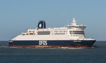 DUNKERQUE SEAWAYS is the first D Class vessel to be modified. © J.J. JAGER