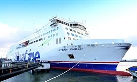 The high demand for driver-accompanied freight movements between Ireland and the continent has led to the temporary introduction of STENA EMBLA on Rosslare-Cherbourg. © Stena Line