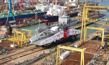 Launching of the world's first H2 ferry on 6 November. © Norse Shipbuilding