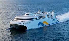 Buquebus's flagship: the Incat-built, LNG-powered FRANCISCO © Robert Heazlewood