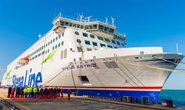 STENA ESTRID has been delivered on-time by its Chinese builders © Stena Line