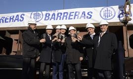 Cheers on the keel laying of Ritz-Carlton Yacht Collection's inaugural vessel © Hijos De J. Barreras Shipyard
