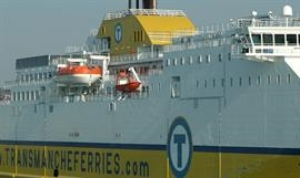 Transmanche Ferries' freight and pax volumes went down during the first seven months of 2017 © Philippe Holthof