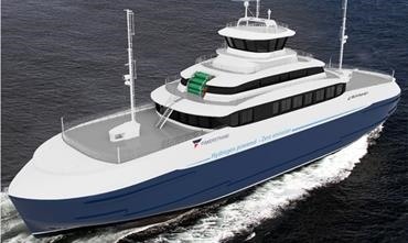 Fiskerstrand Verft, in conjunction with Multi Maritime and other suppliers, has already developed an H2 retrofit of an existing double-ender. © Fiskerstrand Verft