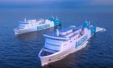 Visentini workhorses with on-deck LNG tanks © Baleària