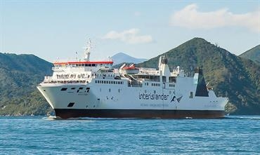 The 1998-built rail ferry ARATERE is one of three ferries to be replaced by the two newbuilds © KiwiRail-Interislander