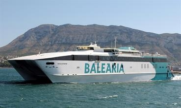 Baleària has resumed passenger services from the Spanish mainland to the Balearics. © Frank Heine