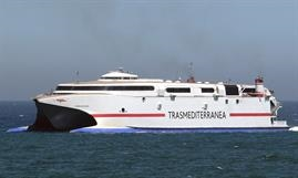Armas Trasmediterránea didn't wait for the re-introduction of VILLA DE AGAETE, the former ALBORAN, to double its fast ferry frequency between Gran Canaria and Tenerife.© Frank Heine
