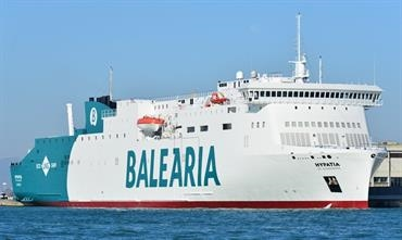 Baleària's new LNG-powered HYPATIA DE ALEJANDRIA © Marc Ottini